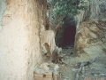 A secret passage behind Osama bin Laden's modest home in Tora Bora in 1996.jpg