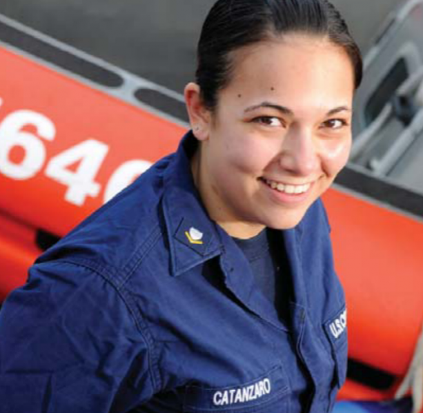 File:USCG Petty Officer, Brittany Catanzaro, commanded a NYC ferry that rescued passengers from US Airways flight 1549.png